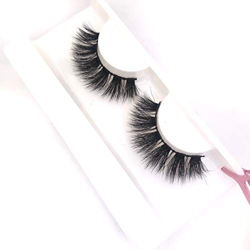 Lids and Lashes Luxury 3D Fluffy Faux Mink Eyelashes Super Wispy for Volume Length and Curl Reusable Natural Thick Fake Eyelashes Extensions Style Jasmine