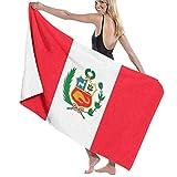 Anjoy Toallas de baño de Playa Blanket Peru's National Flag Large Soft Bed Beach Towel Sheet Bath Set Bathroom Accessories