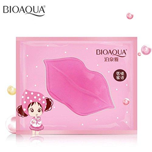 Bioaqua, máscara de labios de cristal nutritivo de colágeno para fontanería de labios (20 unidades)