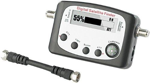 esoSAT Sat Finder: Digitaler Satelliten-Finder mit Kompass, LCD-Display und Tonsignal (Sat Messgerät)