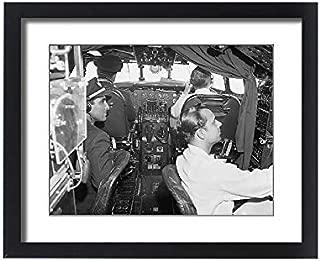 Media Storehouse Framed 20x16 Print of Lockheed Constellation Cockpit (1569955)