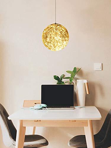 Lámpara colgante de cielo estrellado para dormitorio,bola esférica,lámpara de techo pequeña,luz de techo,pasillo,restaurante,bar,bola de cristal,colgante,iluminación,fuente de luz incorporada