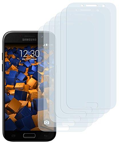 mumbi Schutzfolie kompatibel mit Samsung Galaxy A5 2017 Folie klar, Bildschirmschutzfolie (6X)