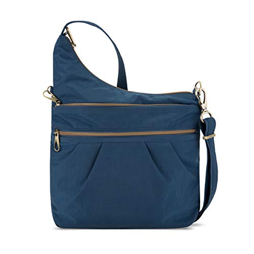 Travelon Anti-Theft Signature 3 Compartment Crossbody, Ocean, One Size