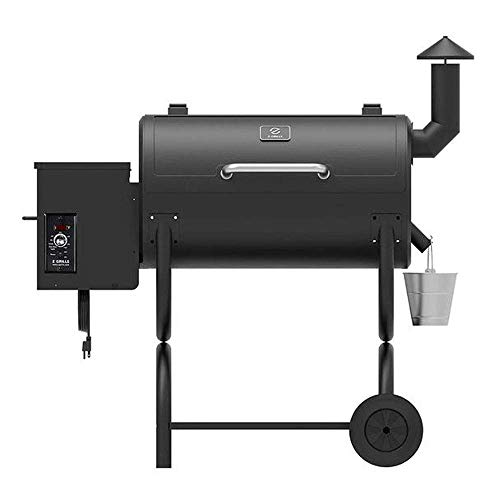 Z GRILLS ZPG-550B 2020 Upgrade Wood Pellet Grill & Smoker, 6 in 1 BBQ Grill Auto Temperature Control, 550 sq in, Black