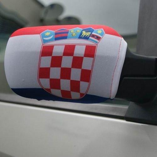 Spiegelflagge/Spiegelfahne KROATIEN 1 Paar, Auto/PKW Rückspiegel/Autospiegel Fahne/Flagge/Überzug