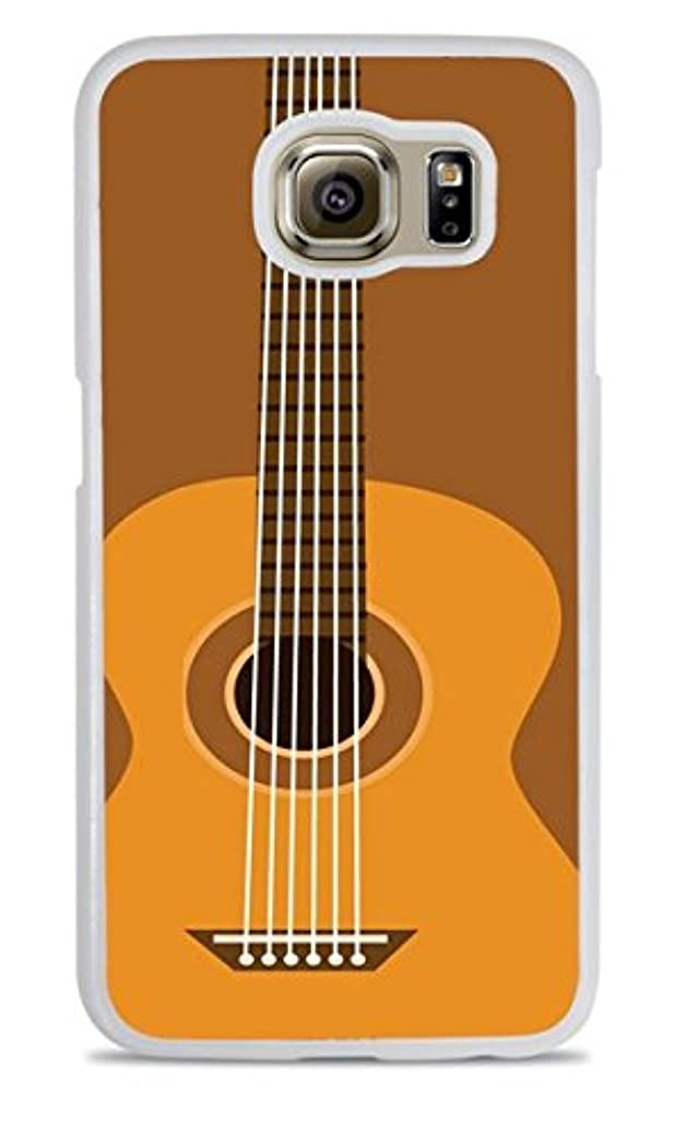 Acoustic Guitar White Hardshell Case for Samsung Galaxy S6 fvzihhcahf