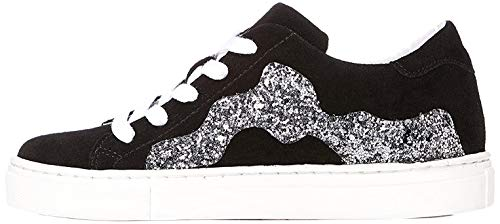 RED WAGON Mädchen Sneaker mit Pailletten, Schwarz (Black), 30.5 EU (12 UK)