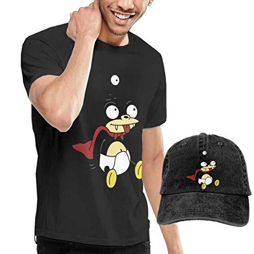 adaewwa Nibbler Futurama TV Show Outdoor Casual Custom Short Sleeve Camiseta Give Sombrero de Vaquero Black
