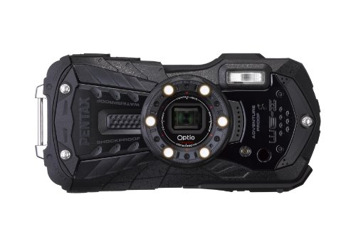 『PENTAX 防水デジタルカメラ Optio WG-2 (オールブラック) 約1600万画素 CALSモード OPTIOWG-2BK』のトップ画像