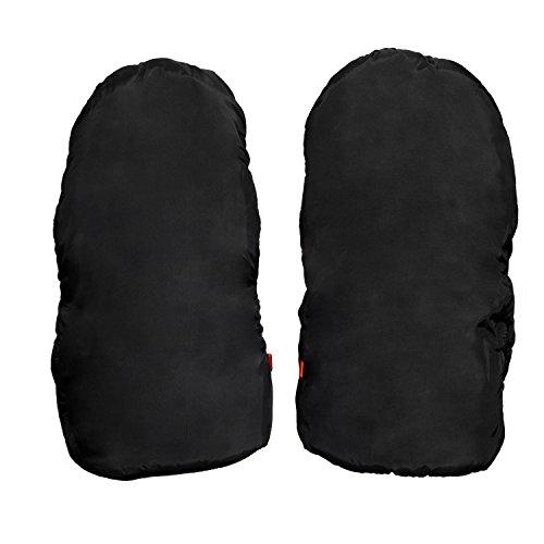 HBF Handmuff Handwärmer Ärmwarmer Muff Handschuhe wasser- und windabweisend, atmungsaktiv Fingerwärmer, Universalgröße für Kinderwagen, schwarz (Trennt)
