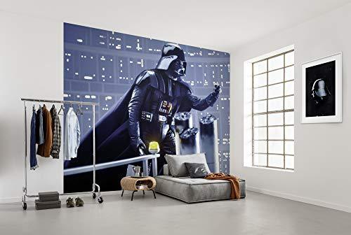 Komar Vlies Fototapete Star Wars Classic Vader Join the Dark Side   Größe: 300 x 250 cm (Breite x Höhe), Bahnbreite 50 cm   Tapete, Wandbild, Dekoration, Kinderzimmer   DX6-071, blau, schwarz