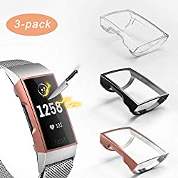 top rated Compatible with 3 pieces, Fitbit Charge 4 / Charge 3 screen protectors, ultra-thin Valband soft film … 2021
