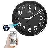 GEQWE Reloj De Pared con Cámara Espía WiFi, Cámara IP Oculta 1080P HD Spy DVR Visión Nocturna con Cámara De Niñera...