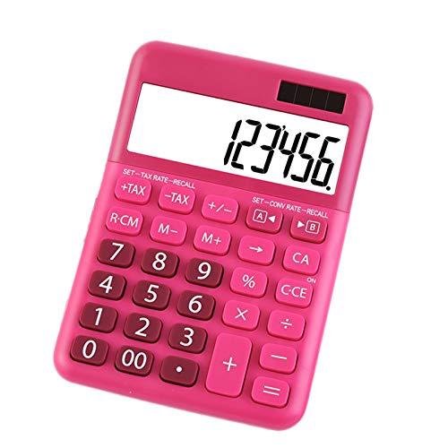 Taschenrechner, Standard Desktop Elektronischer Taschenrechner mit 12-stelligem großem LCD-Display und großen Tasten für tägliche Büroarbeit