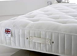 All 6 standard UK Mattress Sizes Available: 2ft6 Small Single, 3ft Single, 4ft Small Double, 4ft6 Double, 5ft UK King, 6ft Super King An exceptional and exclusive mattress for Bed Centre, hand-crafted in the UK to a design that makes the most out of ...