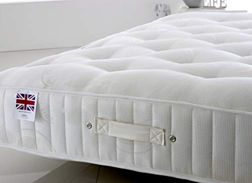 Bed Centre Stress free 25cm Deep Ortho Luxury Medium Firm Tufted Mattress (Double (135 x 190cm))
