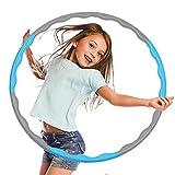 TreeLeaff Círculo de fitness con peso de cintura delgada y libre de purpurina de plástico duro para yoga ejercicio deportivo círculo para niños plegable Traing Home Sports Equmpent