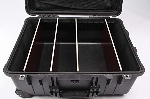 Peli 1560 Trolley Case mit Deckeleinsatz und Trennwandsystem zur Einteilung/Divider Set