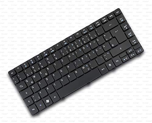 X-Comp Acer - Teclado negro original para Acer Aspire 3810 3810T 4810...