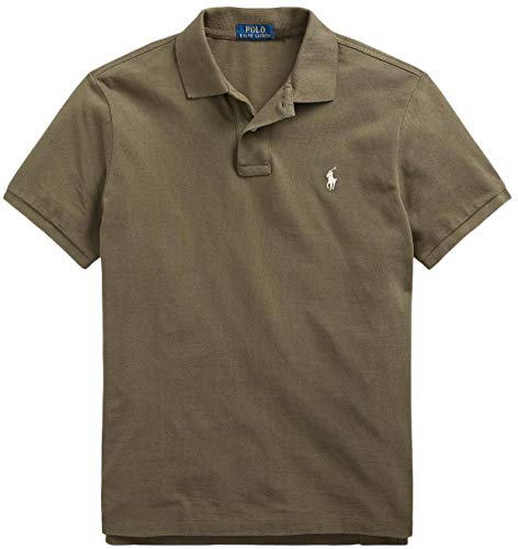 Polo Ralph Lauren Classic Fit Mesh Pony Logo Polo Shirt (XXL, DefenderGreen)