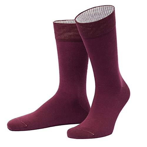 von Jungfeld - Herren Socken/Strumpf Herrensocken Baumwolle 1 Paar 42-44 dunkelrot