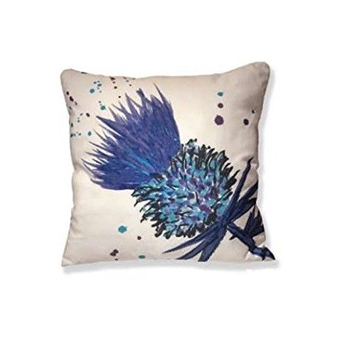PURPLE GLOBE THISTLE - Scott Innes Design Cushion - includes cushion insert - 43cm x 43cm