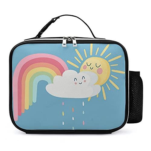 Bolsa Térmica Infantil Arco Iris De Dibujos Animados Bolsas De Almuerzo Isotermica Organizador Del Almuerzo Para Niñas Niños 21x27x9cm