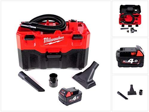 Milwaukee M18 VC2-401 18 V Akku-Nass-/Trockensauger + Milwaukee M18 B4 Akku 18 V / 4,0 Ah / 4000 mAh RED Li-Ion