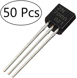 (50 Pcs) MCIGICM 2n7000 n-Channel Mosfet Transistor Assortment 60V 200mA to-92
