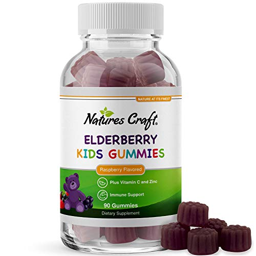 Sambucus Elderberry Gummies Kids Vitamins - Delicious Black Elderberry Gummies for Kids Immunity Booster - Immune System Support for Kids Gummy Vitamins with Potent Antioxidants Vitamin C and Zinc