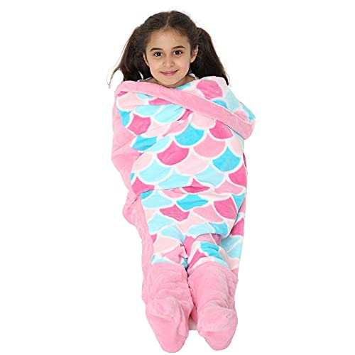 A2Z 4 Kids® Kinder Decke - Blanket Mermaid Pink One Size