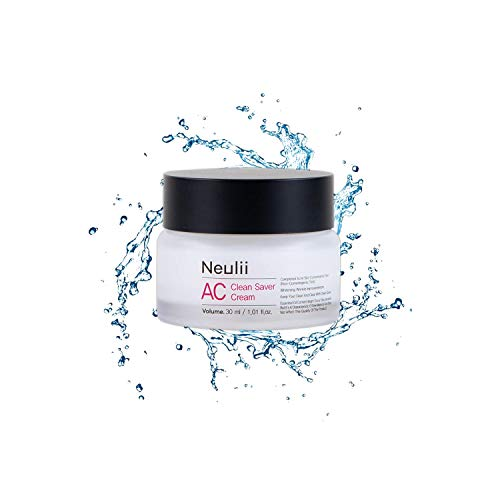 Neulii AC Clean Saver Cream 1.52 fl oz.(45ml) - Natural Acne Cream Spot Treatment | Acne Face Cream for Acne Prone Skin | Pore Minimizer Cream | Tea Tree Oil Cream for Acne | Anti Acne Cream for Women