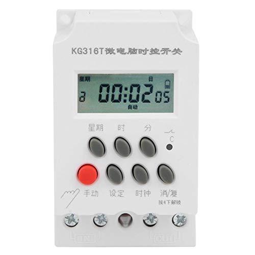 Interruptor de temporizador digital LANTRO JS -KG316T, interruptor de tiempo de control de temporizador de microordenador digital de 220 V controlador de tiempo electrónico programable