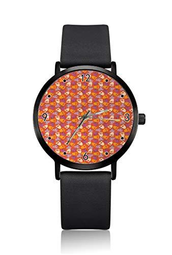 Strawbe Damen Armbanduhr Laven Creme Hintergrund Ultra Dünn Gehäuse Extrem schlicht Analog Armband Damen Ultra Dünn Armbanduhr Japanisches Quarzuhrwerk