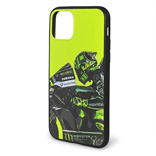 Fashion888 MotoGP - Va-len-Tino Rossi - VR46 Compatible para iPhone 11 12 Pro MAX XR XS MAX 6/7/8 Plus SE 2020 Funda para teléfono Negra Funda para teléfono móvil