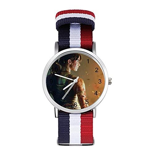 Tomb Raider - Reloj de ocio para adultos con trenza escala, ajustable y elegante espejo de cristal de 1.6 pulgadas para hombres y mujeres