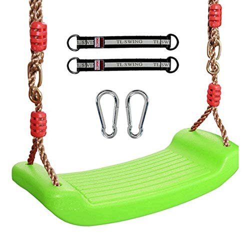 FDSJKD Swing Curvo Tablero de Asiento Juguetes de Asiento jardín Rides Accesorios para Silla Interiores y Exteriores Juguetes para Colgar para Jardines al Aire Libre Swings de Seguridad y Salud
