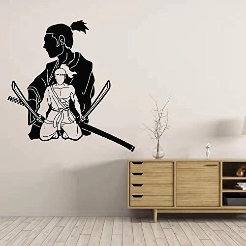 WERWN Arte Creativo Kendo Samurai Ninja Pegatina Vinilo Decorativo Mural Kendo Pegatina