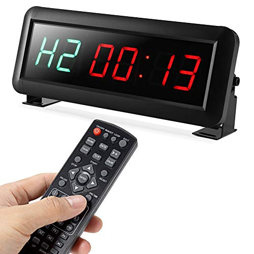 PELLOR Temporizador con Pantalla LED, Reloj de Pared 6Dígitos LED Temporizador de...