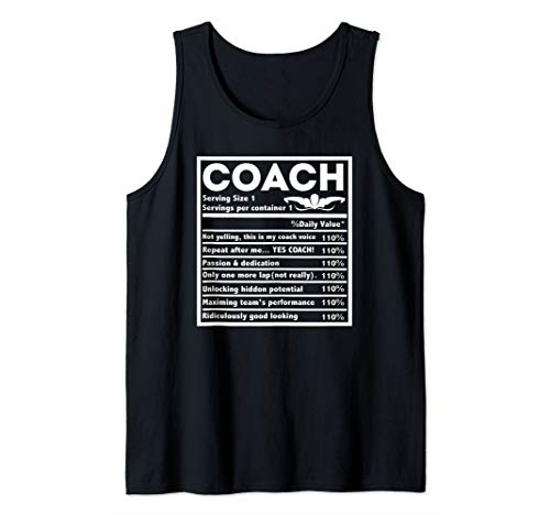 Swimming Coach Teacher Nutrition Facts Workout Suit Gift Tank Top