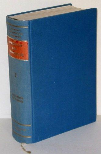Handbuch der Orthopädie in vier Bänden, Bd. 1: Allgemeine Orthopädie