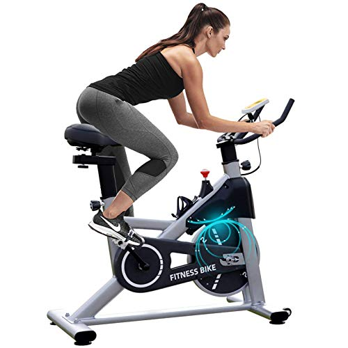 Exercise Bike for Cardio Training, Stationary Bikes, 35 lbs Heavy Flywheel Bicycle for Home Gym, Cycle Bike with Ipad Mount & Comfortable Seat Cushion