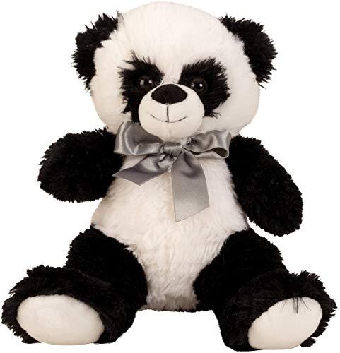 Schattige panda beer knuffel beer 32 cm hoog pluche beer knuffel panda fluweelzacht - om van te houden