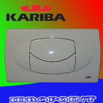 KARIBA PLACCA 2 PULSANTI BIANCA 306200 DUO