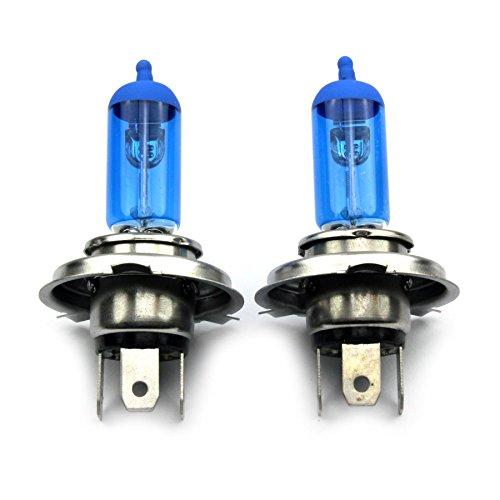 JurmannTrade GmbH® H4 Xenon Style Lampen/Halogen Birne mit 100W, Xenon Look, vorne/hinten, als Fernlicht/Abblendlicht/Nebelscheinwerfer verwendbar!