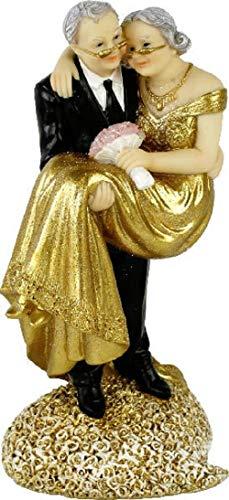 Home Collection Accesorios Fiesta Boda Estatua Decorativa XL para Tartas Aniversario Dorado 50 Años