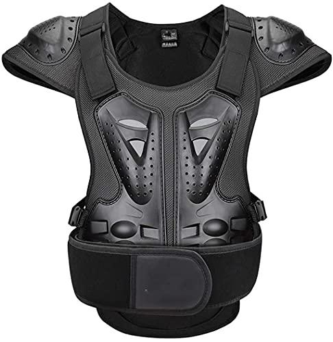 DXMGZ Chaqueta Protectora de Moto para Niños, Chaqueta de Moto con Peto de Protección Chaleco con Protectores, Equipo de Protección de Motocross Enduro Sport, para Niños de 4 a 15 Años M