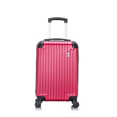 TravelCross Philadelphia Carry On Lightweight Hardshell Spinner Luggage - Red