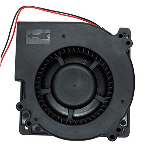 UTUO Bürstenloser Radialgebläse, geräuscharm, 12 V DC, Zentrifugalventilator mit XH-2,5-Stecker, 120 mm x 120 mm x 32 mm